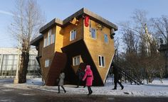 Intriguing Design Roller Coaster: The Shifted House in Russia #architecture