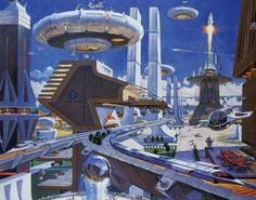 Robert McCall concept art for EPCOT Center Horizons Pavilion, c. 1980.