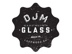 http://dribbble.com/shots/980973-DJMGlass-com #crest #glass #logo #cleveland #typography
