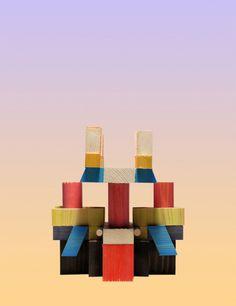 Cristian Montesinos | PICDIT #sculpture #design #color #wood #art #spatter