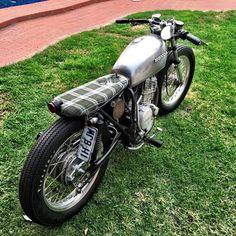 CB360 with an XR600 motor swap built by @contidayne #moto