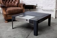 Check out this Floppy Disk reimagined as a coffee floppy table! Industrial, functional, and just plain cool design.