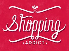 shopping addict blog #type #white #hand #red