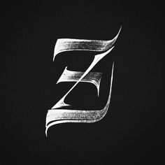 Z by Joan Quirós. #calligraphy #brush #brushlettering
