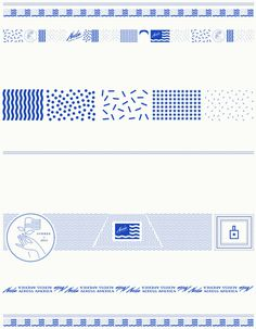 Nails Across America on Behance #america #pattern #lines #flag #nails #blue