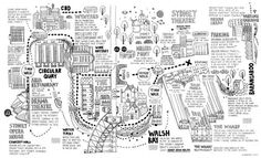 Sydney Theatre Company map #map #illustration