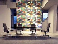 Innovative Leather Coverings by Lapelle at ICFF New York - #wallcoverings, #walls, #walldecor, wallcoverings, wall decor, office