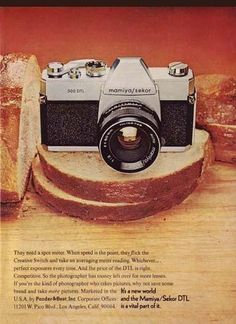 1973 Mamiya/Sekor DTL Camera Advertisement [50077b] - $9.49 : Encore-Ephemera, The finest in vintage ephemera from around the world #camera #design #graphic