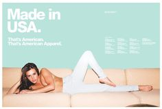 americanapparel: April 2013 #direction #advertise #girl #art