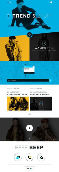 Mikalief fashion luxury landing page full view