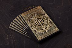 Chad Michael Studio Business Card #business cards #gold foil #stamp #badge