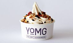 YOMG Packaging #packaging #cream #logo #ice #typography