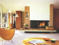 WANKEN - The Blog of Shelby White » The Interiors of Mid-Century Modern #interior #modern #design #vintage #fireplace #midcentury