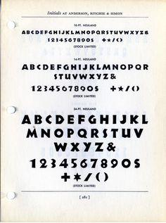 Neuland metal type specimen #type #specimen #typography