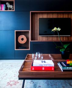 Trendy Dark Colored Apartment in Tel Aviv - #decor, #interior, #homedecor,
