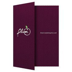 Plum Direct Marketing Presentation Folder #folder #marketing #plum