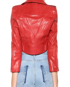 Bebe Rexha The Way I Are Red Leather Jacket (10)