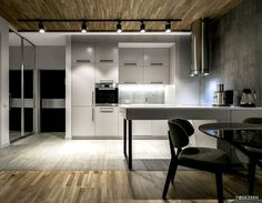 Stylish Apartment by YoDezeen - kitchen, #kitchendesign, kitchen ideas, interior design, #kitchen