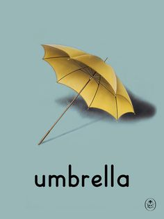 umbrella Art Print by Ladybird Books Easyart.com #print #design #retro #artprints #vintage #art #bookcover