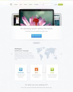 Home #simple #web #layout #open #light