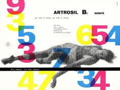 Display | Artrosil B1 Franco Grignani Dompe | Collection #1940s #modern #advertisement #graphic #dompe #grignani #italy #franco