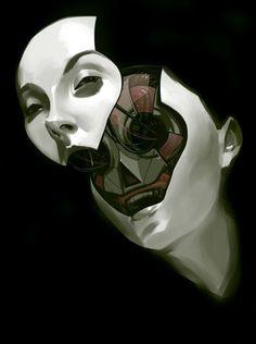 "Billy Nunez ""Future Face"" #robot #sci #mechanical #fi #face #future #deconstructed"