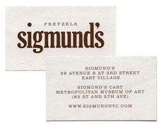 triborodesign | triboro projects #business #sigmunds #triboro #design #cards