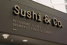 Sushi & Co. by Bond #logo #sign