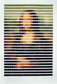 PANTONE ART BY NICK SMITH - follow dailyinspiration #mona #louvre #davinci #color #art #pantone #painting #lisa