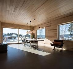 Generation House in Red Concrete by Sanden+Hodnekvam