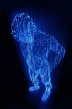 The Cool Hunter Makoto Tojiki Light Sculptures #illustration #art #sculpture #light