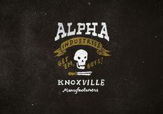 Alpha Industries - Jon Contino, Alphastructaesthetitologist #lettering #contino #jon #illustration #skull #hand #typography