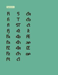 NOUGATINE free font on the Behance Network #font #nougatine #design #ligatures #typography