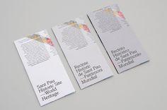 Aleix Artigal Studio #print #pau #barcelona #modernism #sant #brochure #typography
