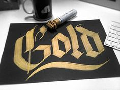 Dribbble - Talking about gold? by jackson alves #type #custom