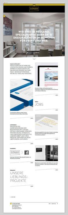 Im Neuland #website #layout #design #web