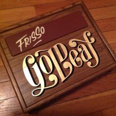 Gold Leaf by Carl Fredrik Angell #handcrafted #design #graphic #type #typography
