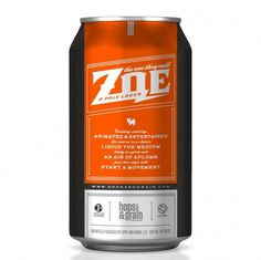 Hops & Grain Zoe Can #packaging #beer #can #label