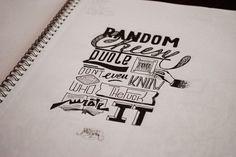 Sketchbook Hand Lettering #sktchbook #handlettering #handstyle #typography #calligraphy #font #composition #quote #random