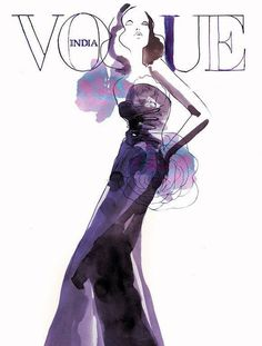 SARA SINGH vogue #vogue #sketch #cover #illustration #fashion #drawing #magazine