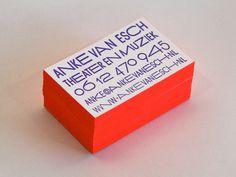 Anke van Esch #business card #letterpress #anke van esch #edge print