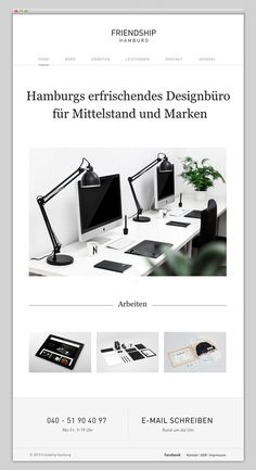 Friendship Hamburg #design #website #minimal #layout #web
