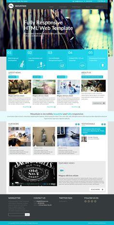 blue, metro, layout, concept, website, web design