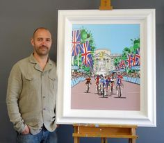 Dylan Izaak Olympic artist and his painting #olympic #artist #london #2012 #art #paintings #games