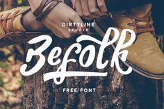 Befolk - Free Brush Script Font