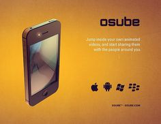 Osube™ logo rebrand #iphone #apple #grainy #ui