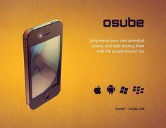 Osube™ logo rebrand #iphone #apple #grainy #ui