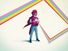 Pretty Please: Oh Blue Bird - ::nook:: #design #nook #illustration #racoon #colour