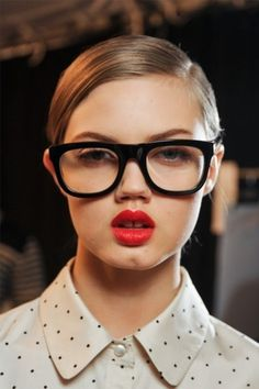 Sara Lindholm - the-front-row: Lindsey Wixson backstage at marc... #marc #eyeglasses #jacobs #by #fashion