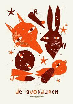 GigPosters.com - De Avonduren #mara #piccione #screenprint #de #poster #avonduren